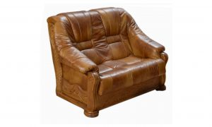 skórzany fotel podwójny