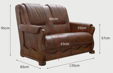 fotel skórzany wymiary
