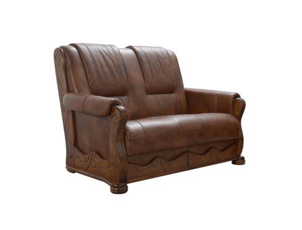 podwójny fotel skórzany