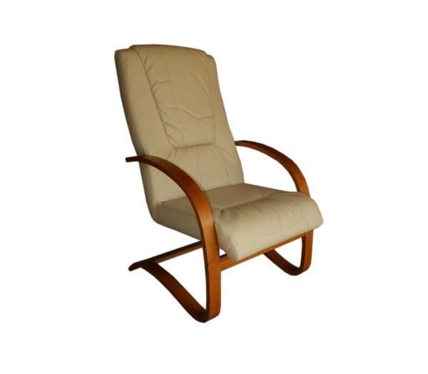 fotel skórzany bujany