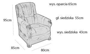 fotel wymiary