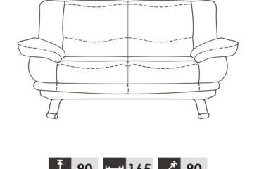 skórzana sofa alaska iii - wymiary
