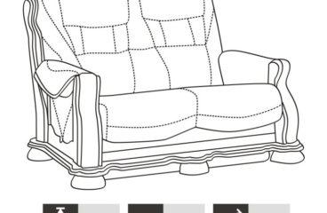 skórzana sofa cezar ii wymiary