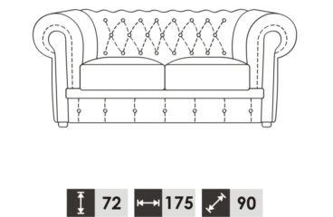 skórzana sofa chesterfield wymiary