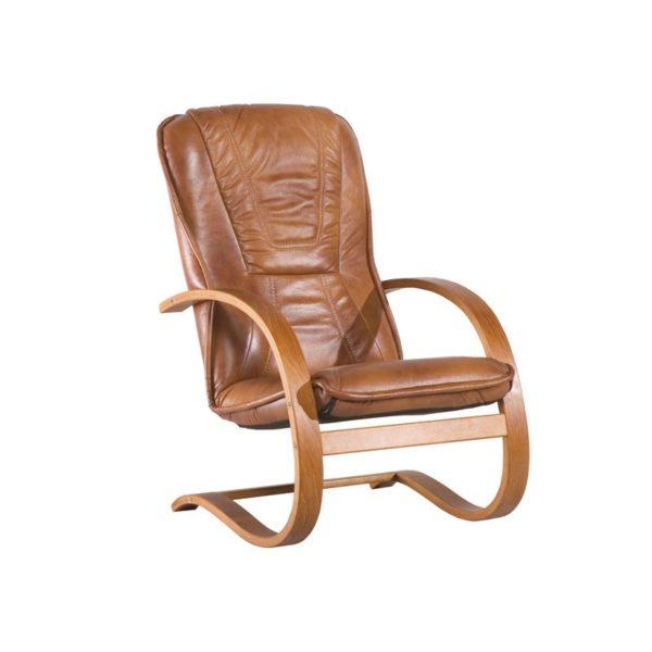 skorzany fotel finka z listwą