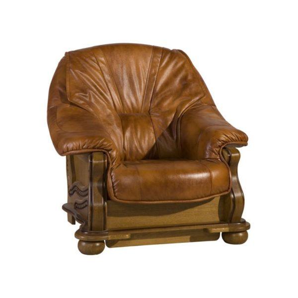 skorzany fotel parys