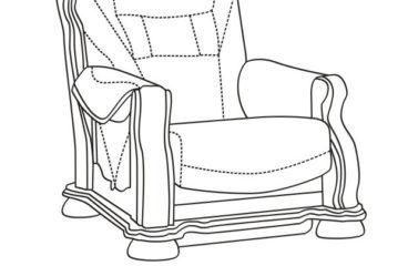 skórzany fotel cezar ii wymiary